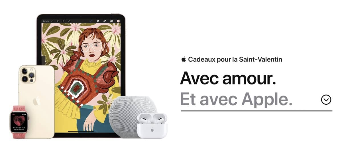 Saint Valentin Apple 2021