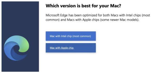 Microsoft Edge, Mac M1