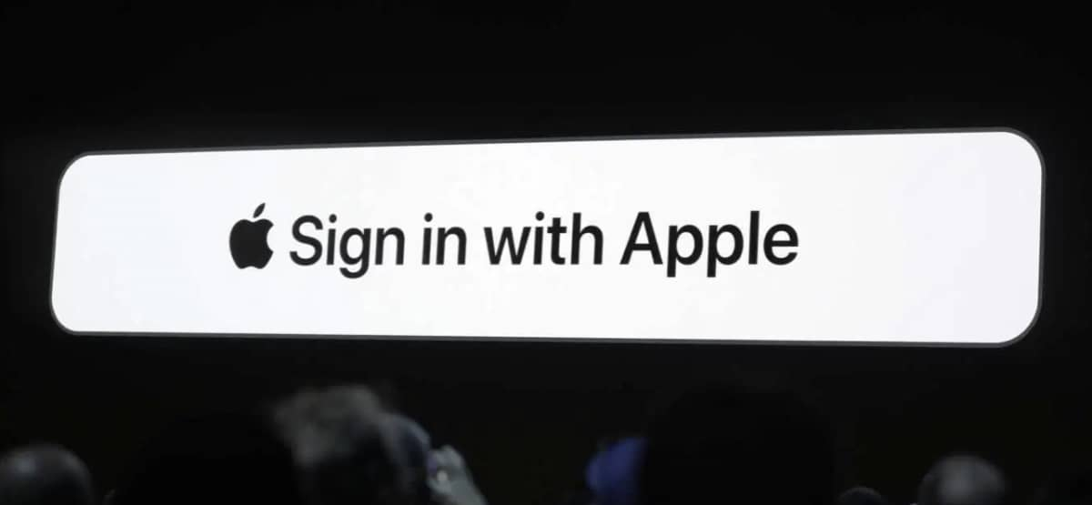 sign in with apple f21