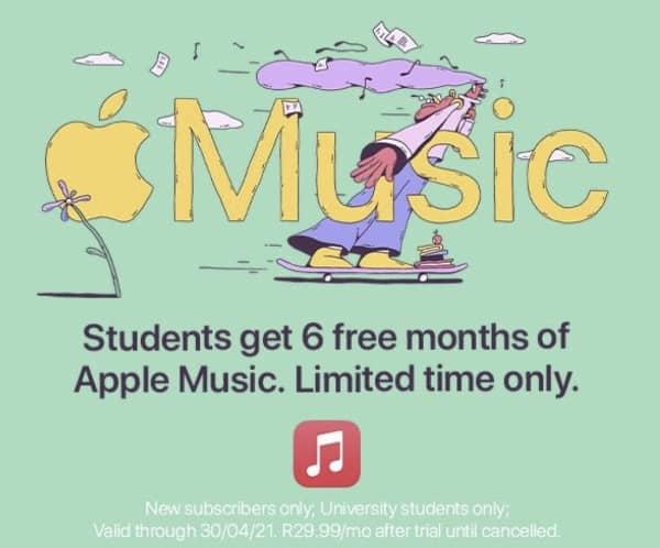 Apple Music 6 Mois Gratuits Etudiants