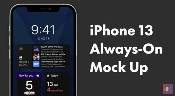 concept iphone 13 ecran always on