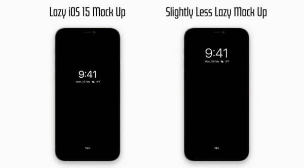concept iphone 13 ecran always on 2