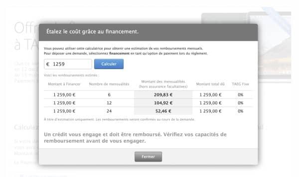 financement Apple