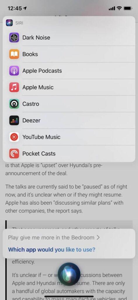 Siri Music iOS 14 5 bêta