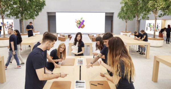 clients gentils, Apple Store