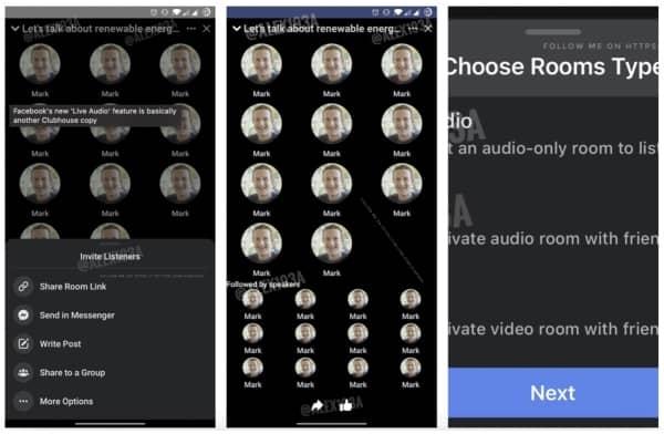 facebook live audio clone clubhouse