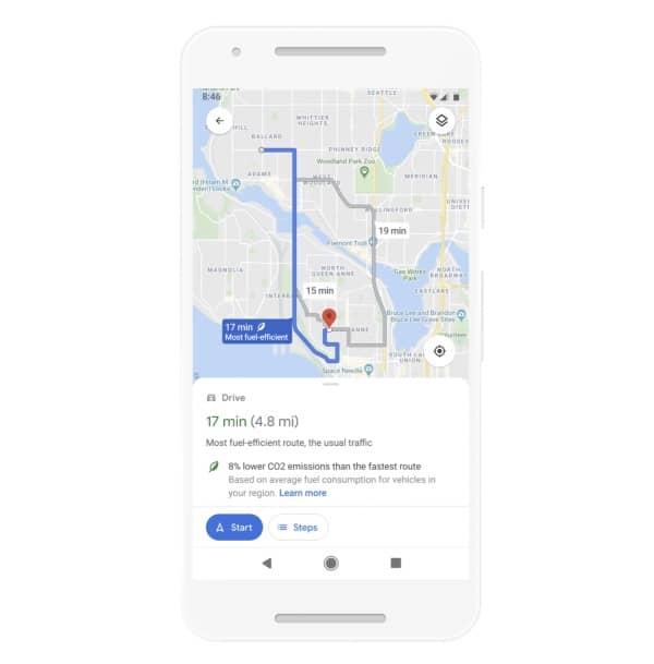 Google Maps, navigation intérieure AR , itinéraires écologiques