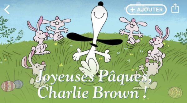 joyeuses paques charlie brown apple tv