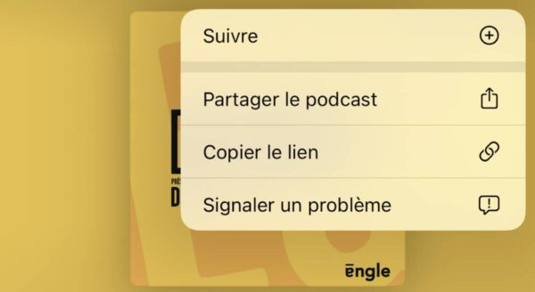 podcasts suivre ios 14 5