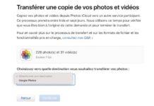 transfert photos icloud google