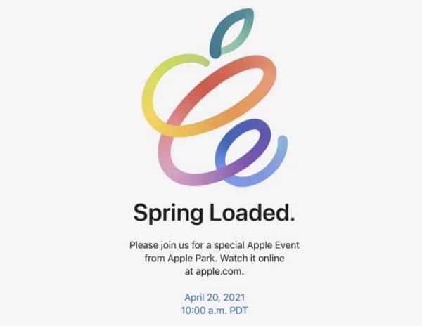 événement Apple 20 avril