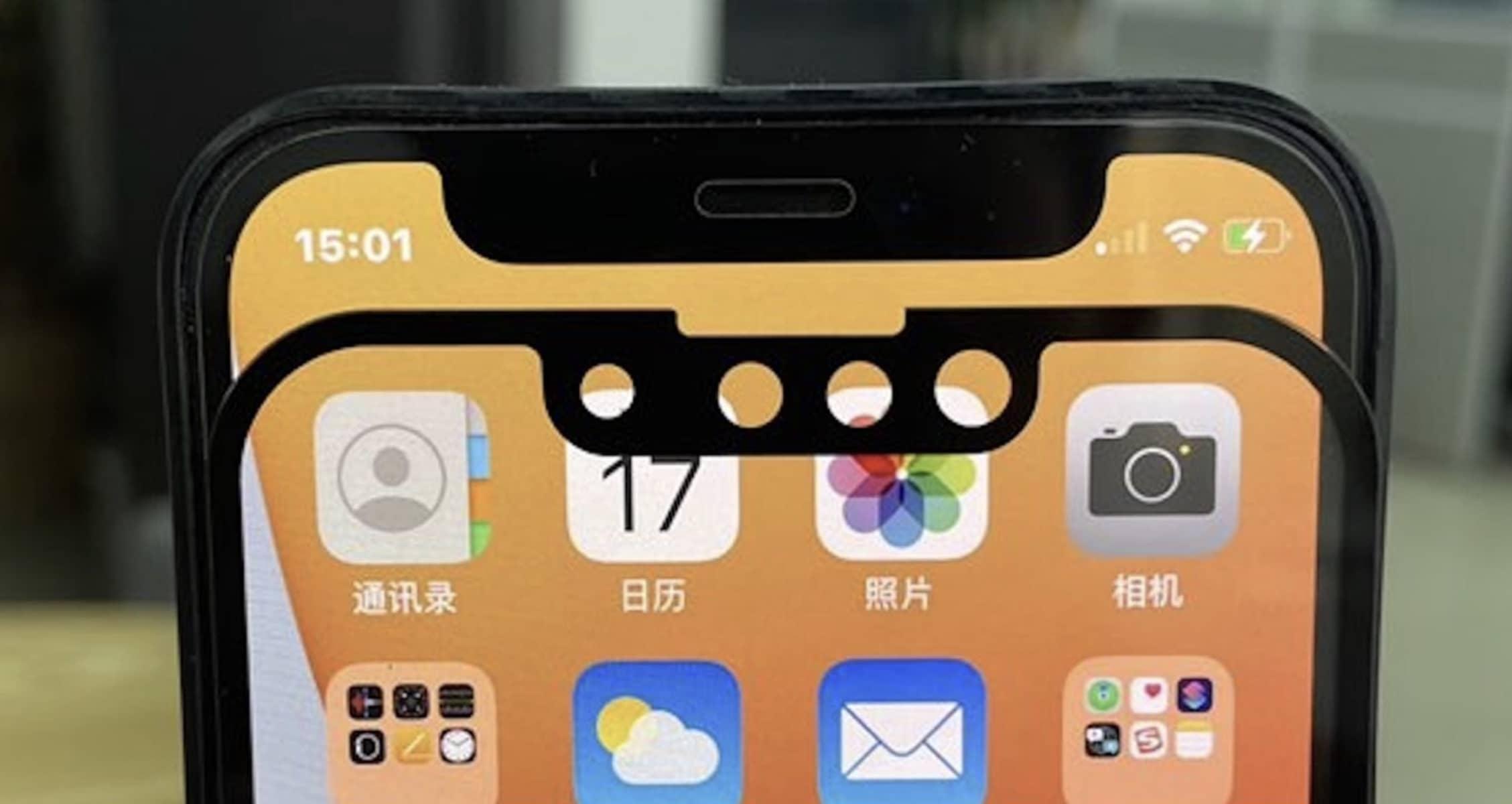 pretendue encoche iphone 13