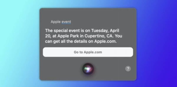 Siri, événement Apple