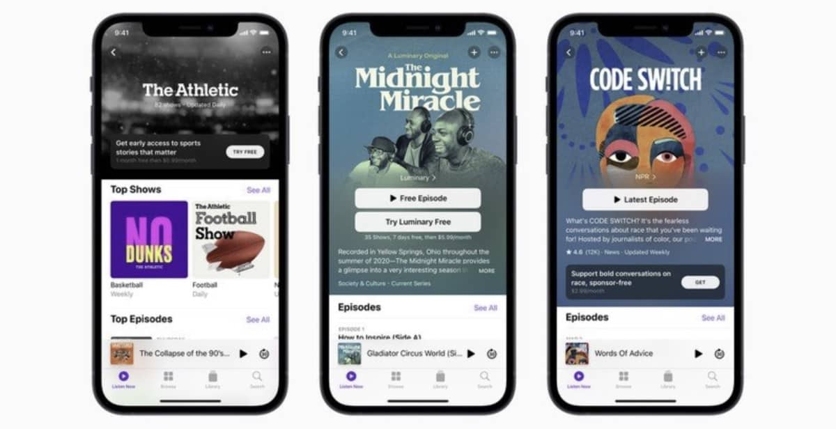 apple programme affiliation podcasts