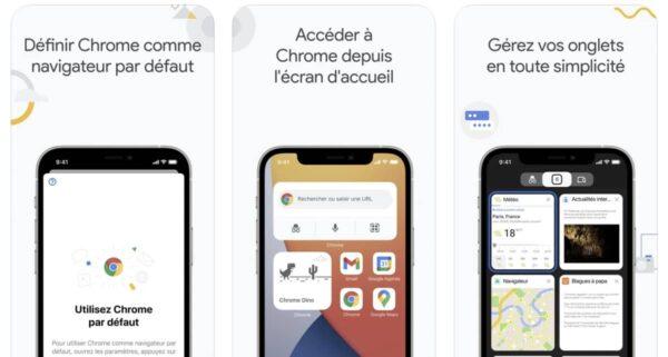 Google Chrome, widgets iOS