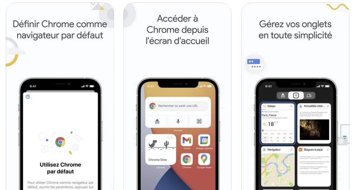 google chrome ios widgets