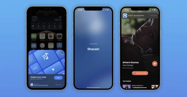 reconnaissance shazam application clip ios 14 6