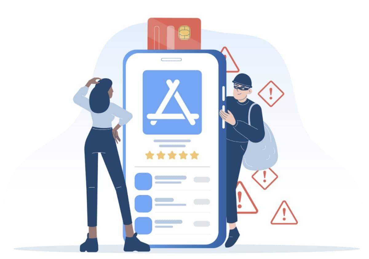app store apps arnaques