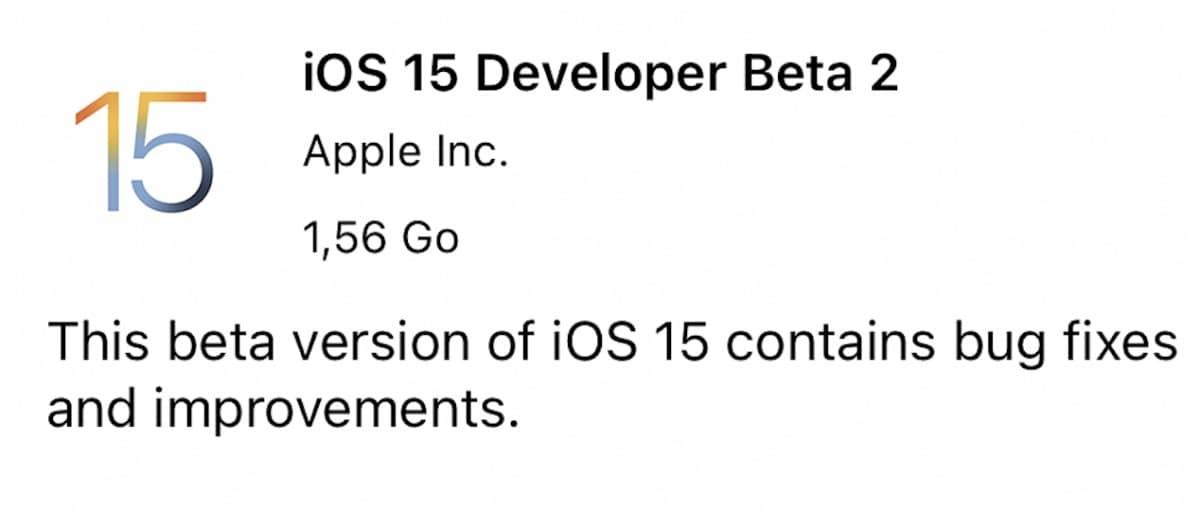 beta 2 ios 15