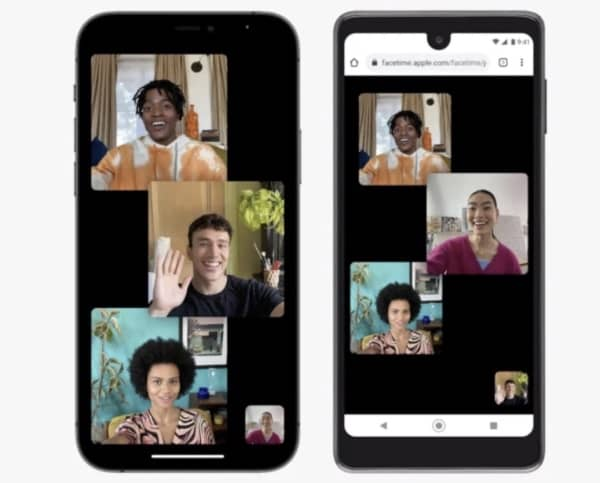 appel FaceTime, Android, Windows