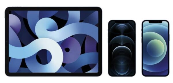 ipad air iphone 12 pro