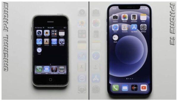 Test vitesse, iPhone 2G vs iPhone 12