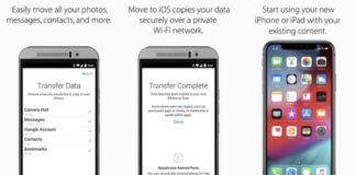 migrer vers ios utilisateurs android