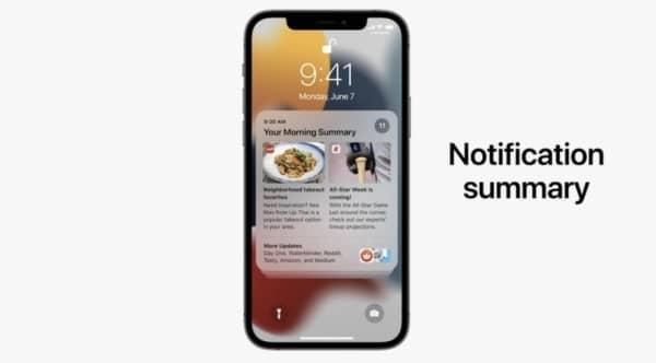 notifications ios 15 2