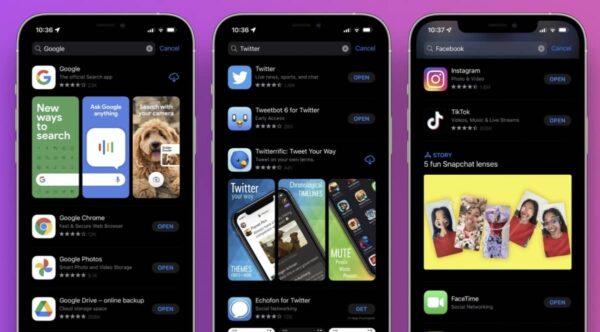 App Store, iOS 15