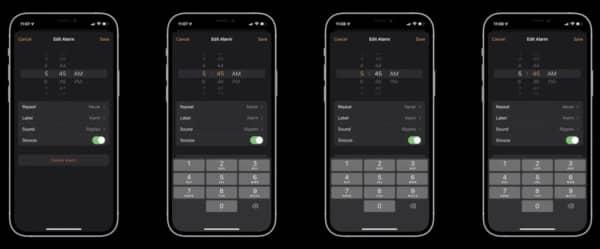 iOS 15, sélecteur de nombre