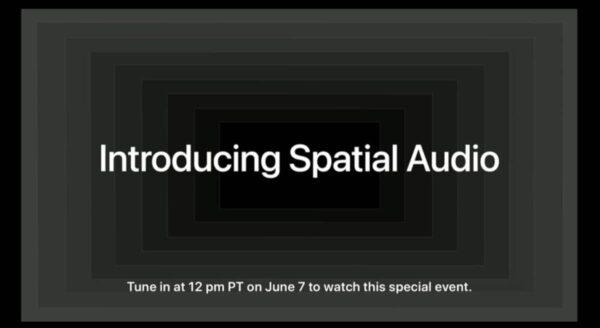 événement spécial, Keynote Apple, Spatial Audio