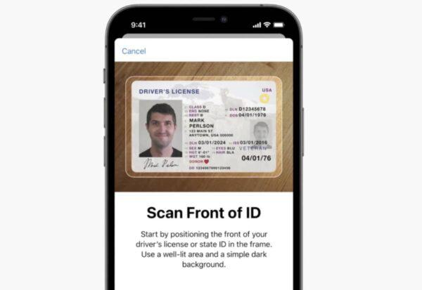 iOS 15, cartes d'identité