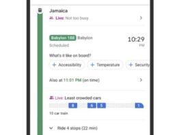 google maps transports commun