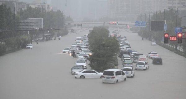 Foxconn, inondations Chine