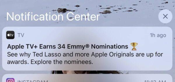 Apple, notification publicitaire, iOS