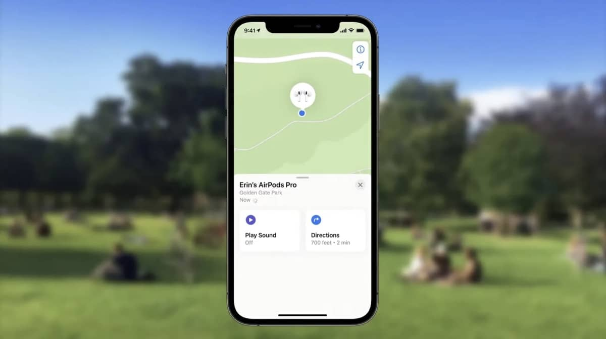 precision finding airpods ios 15