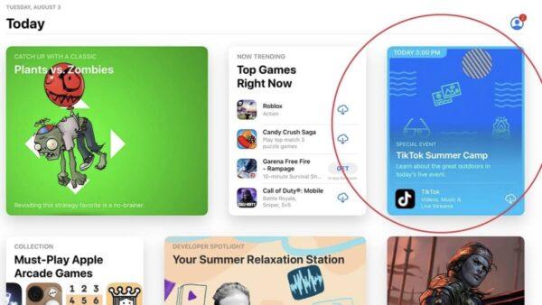 événement in-app, App Store, iOS 15