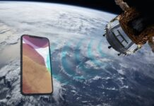 iphone in space satellite