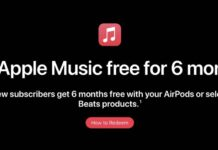 apple music 6 mois offert