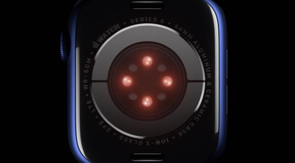 Apple Watch Series 6, capteur Sp02, capteur oxygène