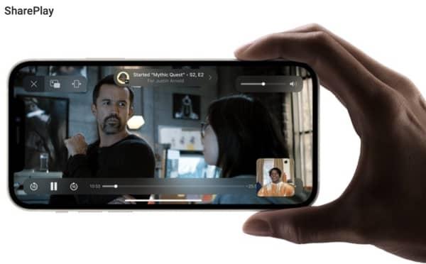 facetime shareplay tv show ios 15 1