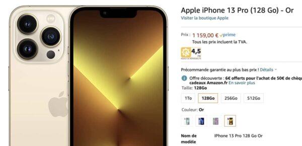 précommande iPhone 13, iPhone 13 Pro Amazon, iPhone 13 mini