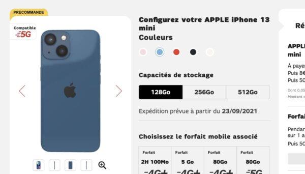 iPhone 13 Orange, iPhone 13 SFR, iPhone 13 Bouygues, iPhone 13 Sosh, iPhone 13 RED, iPhone 13 Pro, iPhone 13 Pro Max