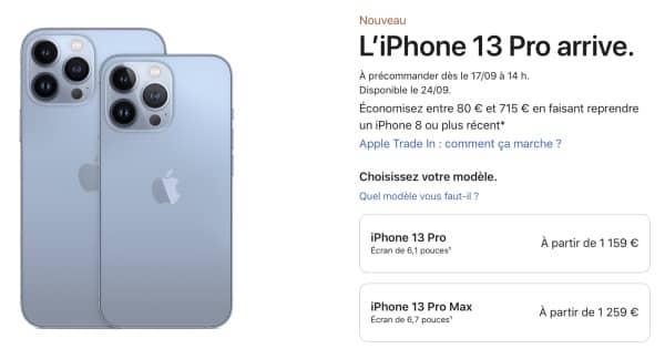 prix iphone 13 pro off