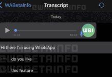 whatsapp transcript vocaux ios