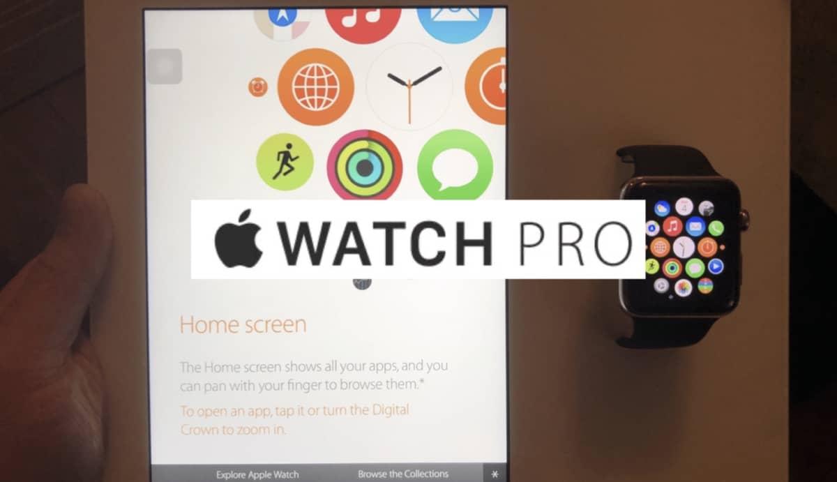 Le nom «Apple Watch Pro» révélé par une unité de démonstration de 2015
