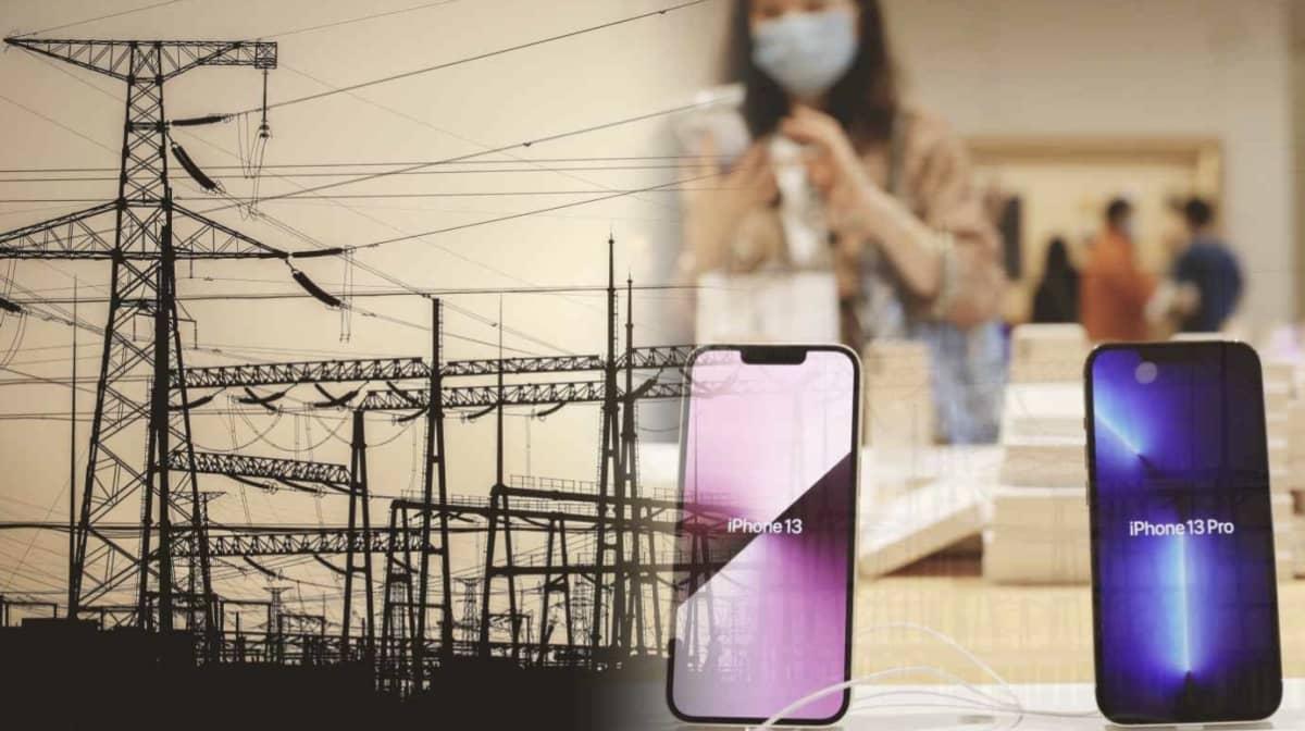 penurie energie chine fournisseurs apple